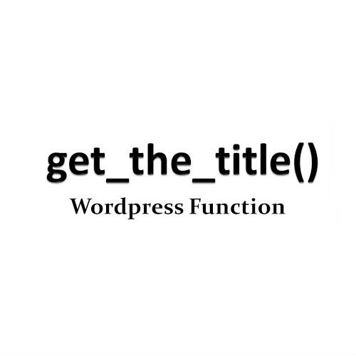 How to get the title in WordPress template page