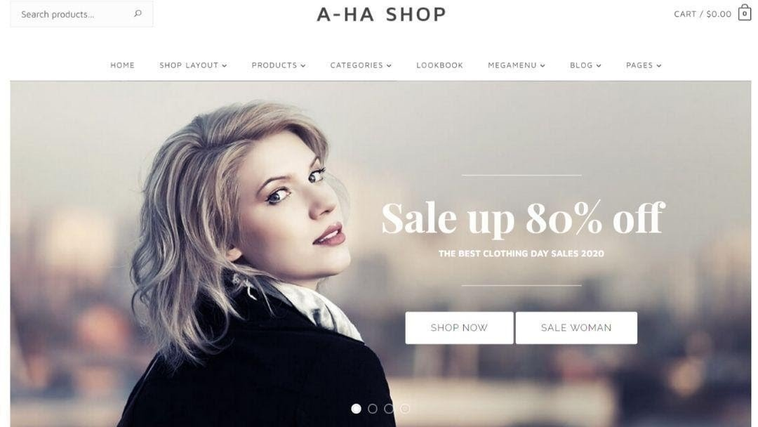 AhaShop - Clothing & Fashion WordPress Theme
