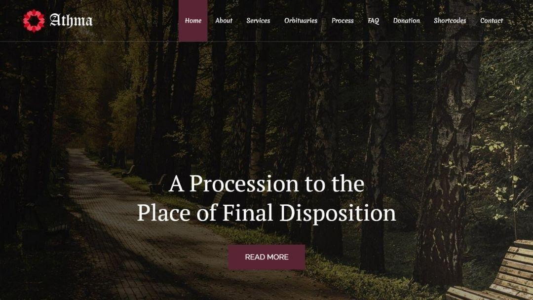 Athma - Funeral WordPress Theme