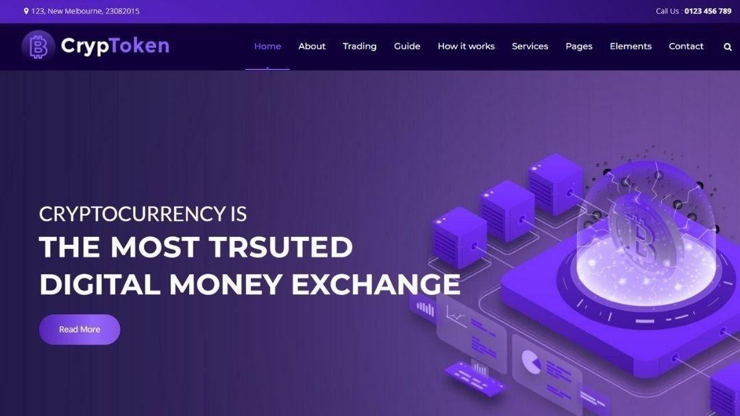Cryptoken – Cryptocurrency WordPress theme