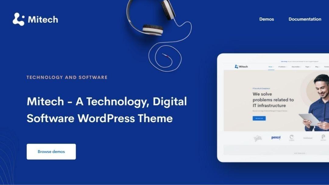 Mitech - Technology IT Solutions & Services WordPress Theme