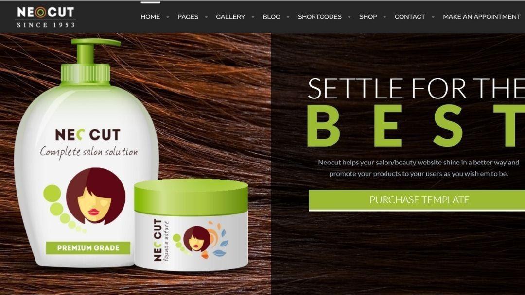 Neo Salon - Barber Shop WordPress Theme