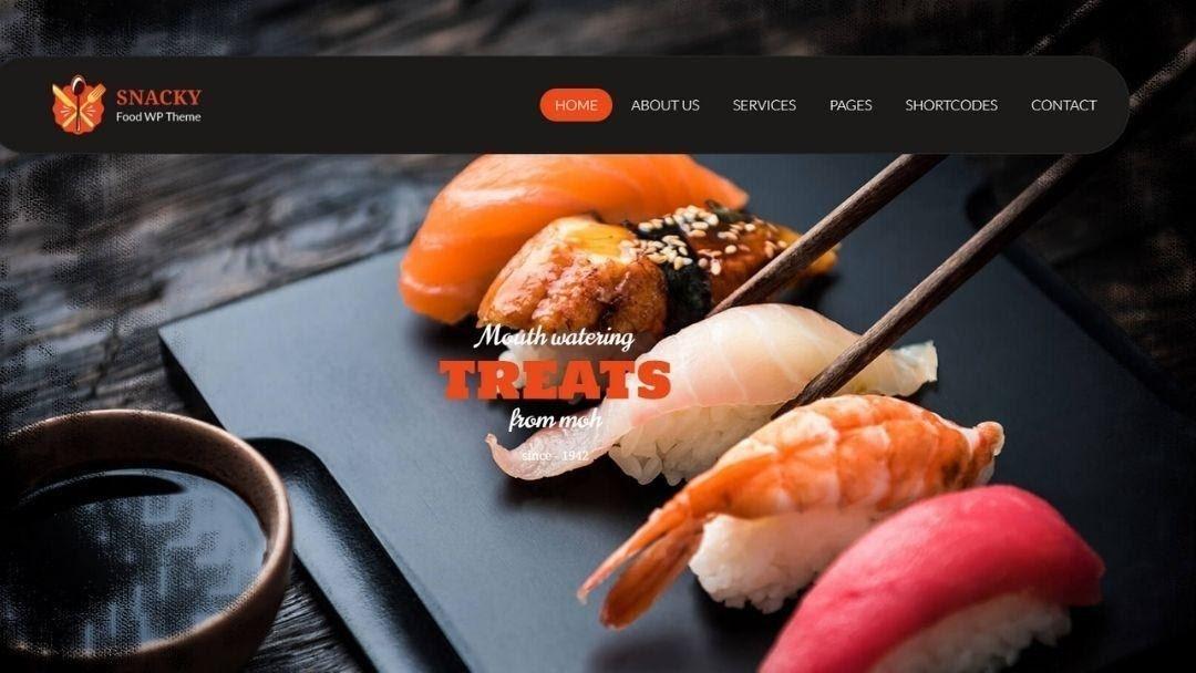 Snacky – Restaurant and Tea Shop WordPress Theme