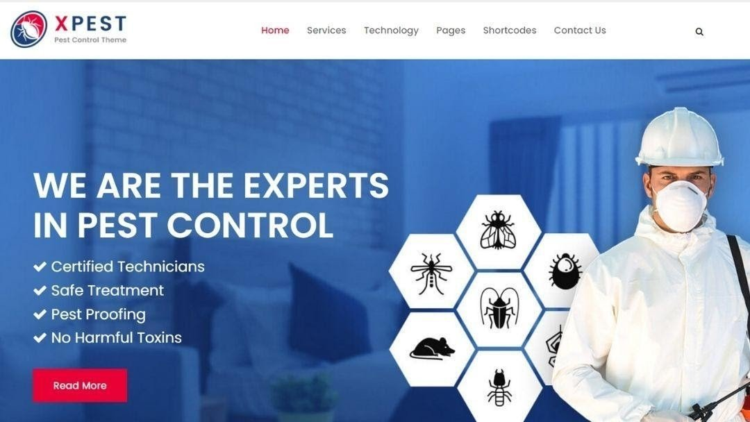 Xpest - Pest Control WordPress Theme