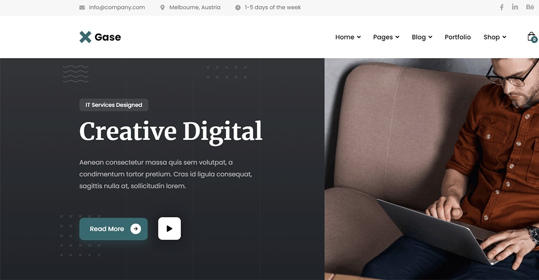 Gase - Best IT Professional Website Theme