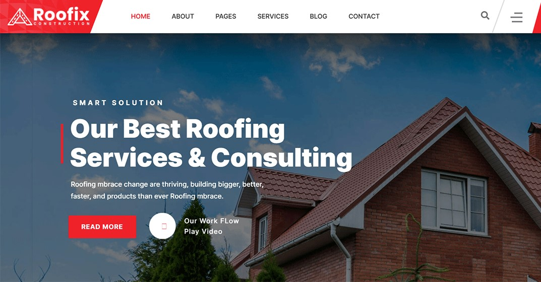 Roofix - Best Roofing Services WordPress Theme