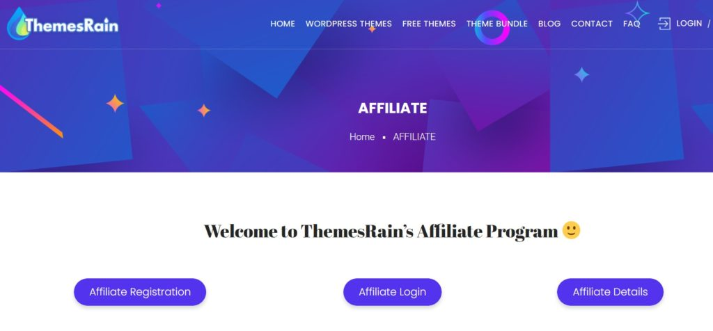Affiliate Program on ThemesRain