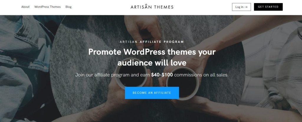 Artisan Themes for Affiliate Program