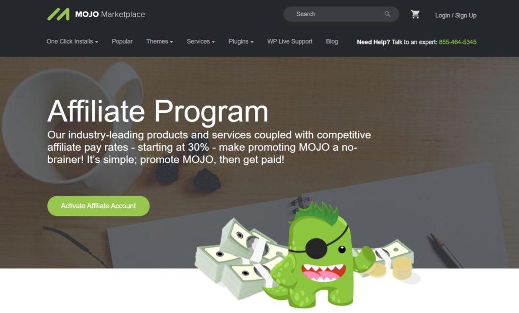 MOJO Marketplace on Affiliate Program