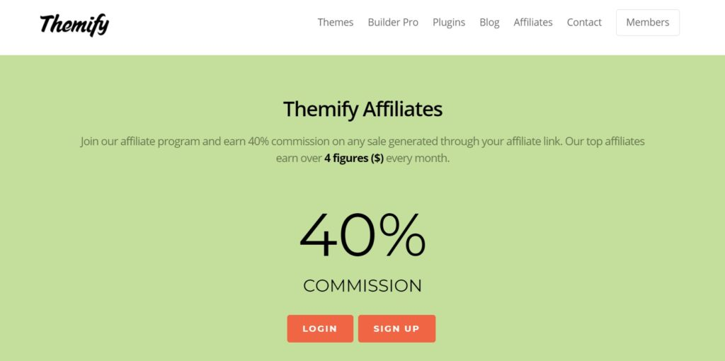 Themify Affiliate program