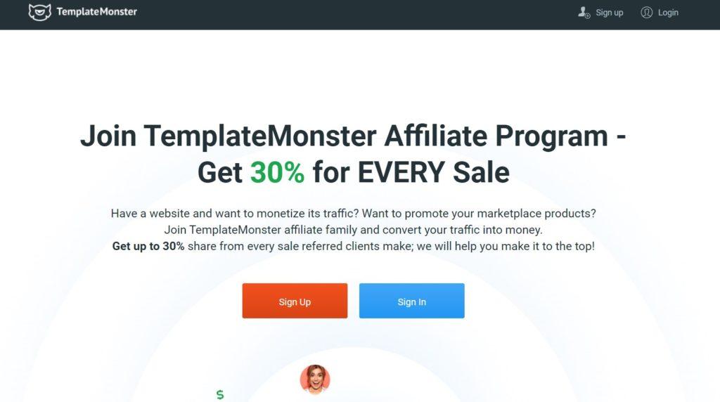 Affiliate Program on TemplateMonster
