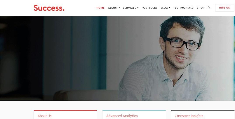 Success - Best Professional Services WordPress Theme
